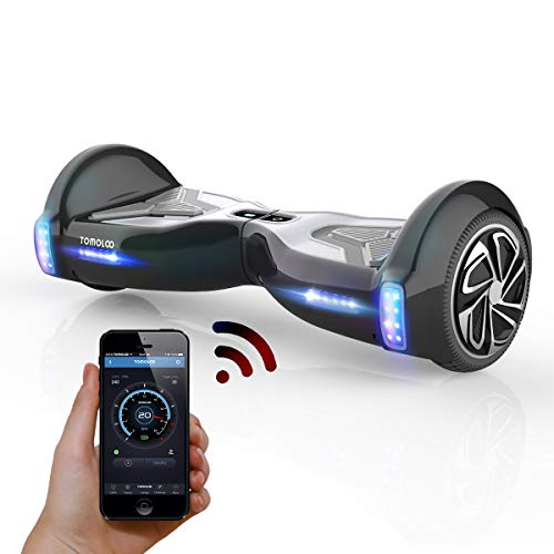 "TOMOLOO Hoverboard for Kids and Adults, Hover Boards Equipped with Smart App, 6.5"" Two-Wheel Hoover Board for Adults 265 lbs, Self Balancing Hoover Board with Bluetooth Speaker and LED Lights.…"