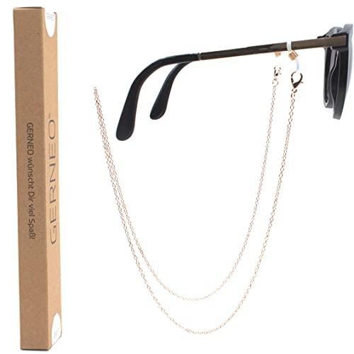 GERNEO® - Nizza - cadena para gafas resistente a la corrosión - chapada en oro o plata - correa y cadena para gafas de sol y de lectura