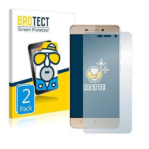 BROTECT 2X Entspiegelungs-Schutzfolie kompatibel mit ZTE Blade A452 Bildschirmschutz-Folie Matt, Anti-Reflex, Anti-Fingerprint