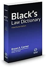 Black's Law Dictionary, Pocket, 5th Edition