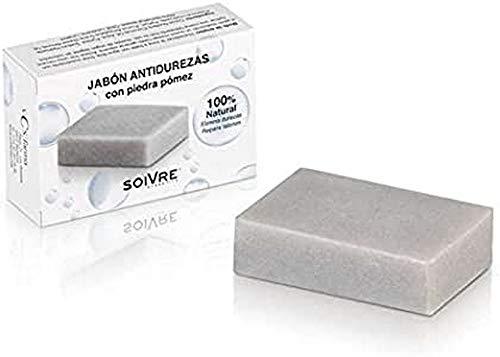 Soivre Cosmetics - Jabón Antidurezas con Piedra Pómez, 125 g