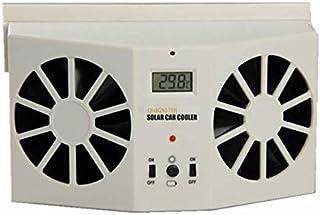 Dossy Ivory Color Solar Dual Fan Car Front/Rear Window Air Vent Cool Cooler Fan