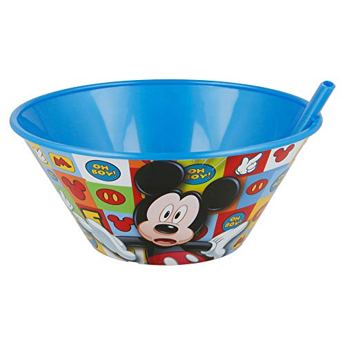 Schale mit Strohhalm 500 ml. Mickey Mouse Icons