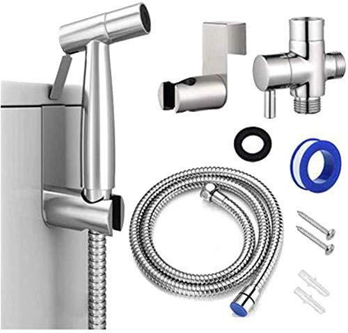 Waschbecken Taps, WC Sprayer Kit Edelstahl Hand Bidet Sprayer for WC Bidet Toilette Spray einstellbaren Druck Badezimmer Bidet Taps for die persönliche Hygiene Badezimmerarmaturen
