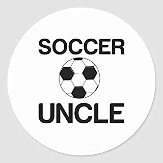Round Label Stickers, Set of 50, Soccer Uncle Classic Round Sticker, Envelope Seals Circle Stickers for Christmas Cards Gi...