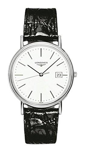 Longines Herren Analog Quarz Uhr mit Leder Armband L47904122