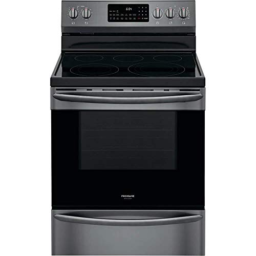 Frigidaire Gallery GCRE3060AD 5.7 Cu.Ft. Black Stainless Electric Convection Range with Air Fry
