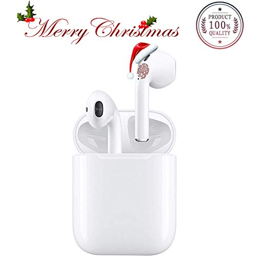 Bluetooth 5.0 Wireless Earbuds Noise Canceling Bluetooth Headphones with Charging Case IPX5 Waterproof 3D Stereo Sports Earphones Pairing in-Ear Built-in HD Mic Headsets for iPhone Apple Airpods