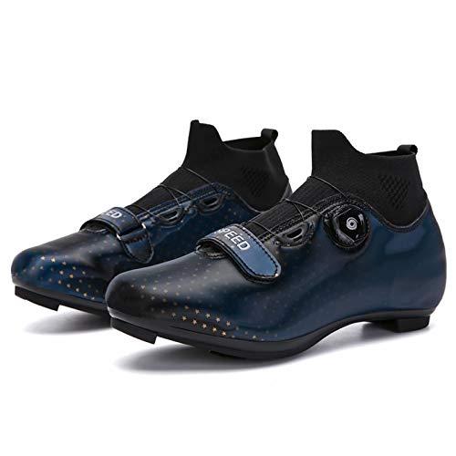 Zapatillas de ciclismo para bicicleta de carretera para hombre y mujer - con tacos SPD compatibles con cordones rápidos Zapatillas de ciclismo para interiores MTB Spin Zapatillas de ciclismo para