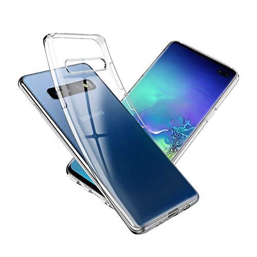 NEW'C Cover Compatibile con Samsung Galaxy S10, Custodia Gel Trasparente Morbida Silicone Sottile TPU [Ultra Leggera e Chiaro]