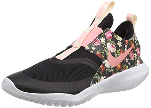 Nike Flex Runner Vintage Floral, Zapatillas de Trail Running Mujer, Multicolor (Black/Pink Tint/White/White 1), 38.5 EU