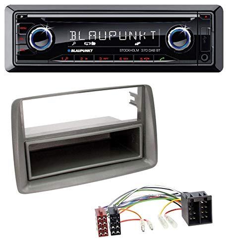 caraudio24 Blaupunkt Stockholm 370 DAB BT CD DAB Bluetooth MP3 USB Autoradio für FIAT Panda (169 2003-2012) grau