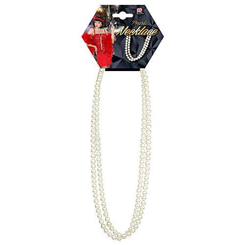 Widmann 5019M - Halskette mit Perlen, weiß, Länge circa 70 cm, Perlenkette, Schmuck, Accessoire