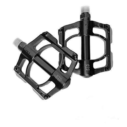 THCL – Pedales para bicicleta, bicicleta de montaña, ligeros, antideslizantes, bicicleta de carretera, pedales de aluminio con 3 rodamientos sellados, diámetro del eje: 9/16 pulgadas