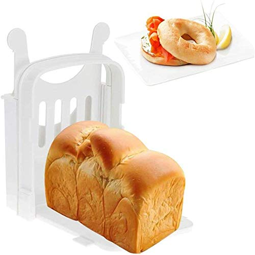 Sale!! Bread Slicer,Cake Slicer Sandwich Maker Toast Slicing Machine Folding and Adjustable Thicknesses Bread Cutter