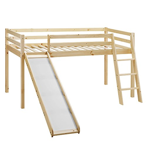Children's Cabin Bed Frame with Slide & Ladder - Home Detail