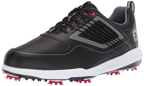 FootJoy Men's Fury Golf Shoes Black 9.5 M Red, US