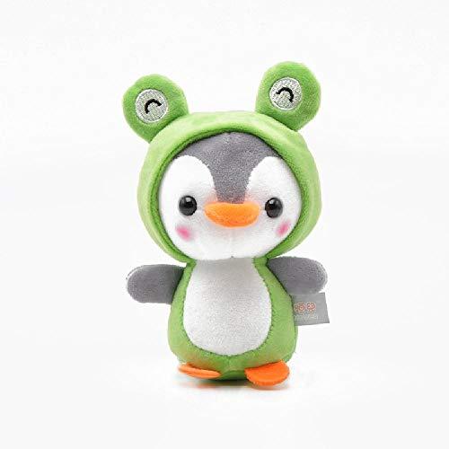 ZWWB Creativo lindo pingüino peluche juguete animal pingüino cosplay unicornio abeja rana dinosaurio peluche muñeca pequeño colgante llavero de regalo de los niños 13CM