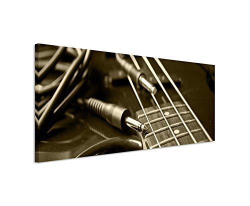 Wunderschönes Wandbild 150x50cm Kunstbilder – Liegende Gitarre in Nahaufnahme