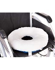 OrtoPrime Cojín Antiescaras para Coxis - Prevención y Tratamiento de Ulceras por Presión - Asiento Ortopédico para Sillas de ruedas, Oficina, Coche y hogar - Cojín Postural Redondo con Agujero