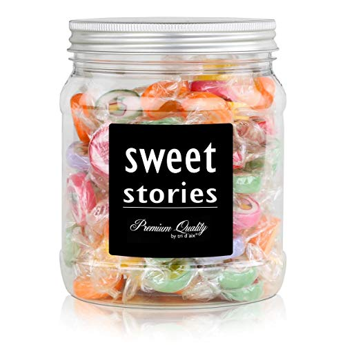 Sweet Stories Rocks Bonbons Bunter Mix in einer Retrodose 370g (1er Pack)