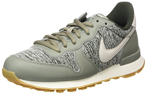 Nike Internationalist, Zapatillas de Gimnasia Mujer, Gris (Dark Stucco Li G H T Bonesequoia 022), 44.5 EU