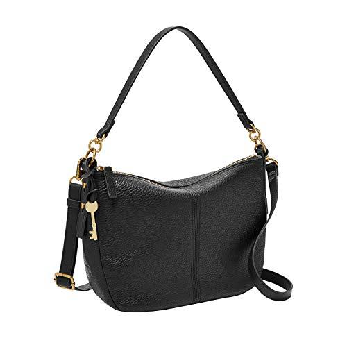 Fossil Women's Jolie Leather Crossbody Handbag, Black