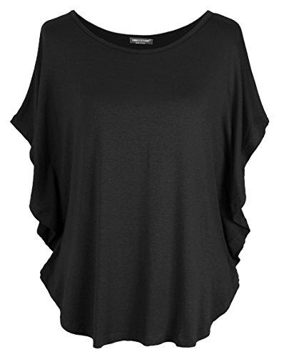 Emma & Giovanni - T-Shirt/Oberteile Kurzarm - Damen (Schwarz, XL/XXL)