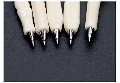 Slivercolor Knochen Design Form Schwarz Tinte Kugelschreiber für Krankenschwester , Künstler, Schule,Geburtstagsgeschenk, Briefpapier Geschenk, verrückte Studenten Geschenk, 0.7mm schwarz