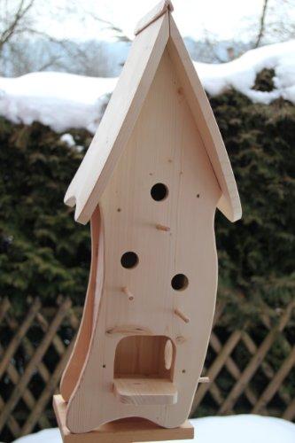 Dekorativer XXXL Nistkasten(N4) mit Vogelfutterhaus-Vogelhaus–Vogelhäuschen-sauberste Verarbeitung-Vogelhaus Garten Deko - 3