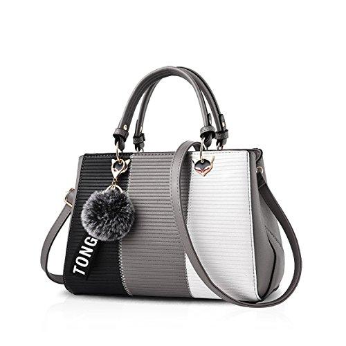 NICOLE & DORIS 2020 Neue Welle Paket Kuriertasche Damen weiblichen Beutel Handtaschen für Frauen Handtasche Grau