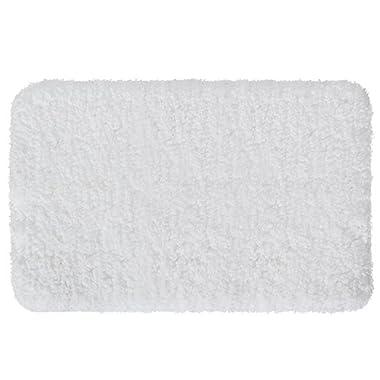 Lifewit 20  x 32  Soft Shaggy Bath Mat Non-slip Rubber Bathroom Rug Mats Water Absorbent White