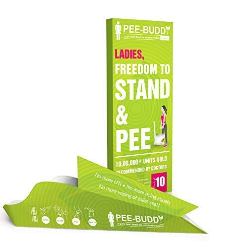 PeeBuddy 10 Funnels Portable Female Urination Device | Recyclable Disposable Urinal Funnel | Travel, Camping, Hiking and Outdoor Activities | Discreet and Compact Stand and Pee Funnel for Women, Girls