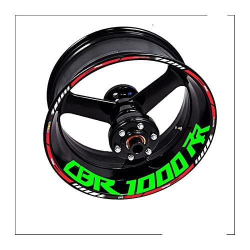 Decal de rayas de llanta de rueda Para HON-DA CBR1000RR CBR 1000 RR 1000RR Etiquetas engomadas de la motocicleta Etiquetas de las etiquetas de las etiquetas de las ruedas RIM Emblem Accesorios 2004 20