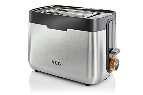 AEG Toaster 5Series AT 5300/8 Bräunungsgrade/intergrierter Brötchenaufsatz / 2 Scheiben/Edelstahl