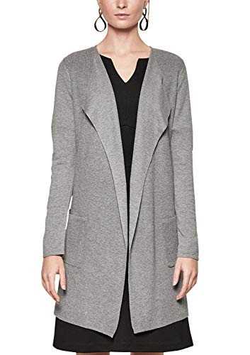 s.Oliver BLACK LABEL Damen 11.808.64.2016 Strickjacke, Grau (Happy Grey 9710), 36