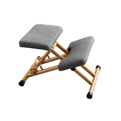 YGU Wooden Chair Ergonomic Chair Knee Chairs Computer Chair Knee Chair Office Chair Stool Computer Posture Support Furniture