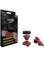 GAIMX RAISX CORE PS5 PS4 Stick Control Aim/Ayuda de objetivo, optimizador de Aim, para Playstation 4 y 5 accesorios, extensión de barra de pulgar en tres alturas diferentes (rojo)