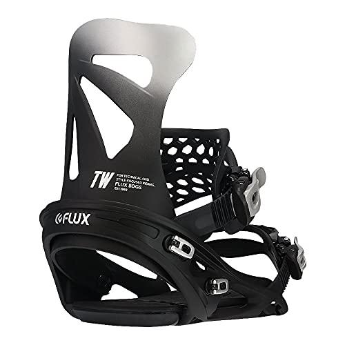 NEWモデル 21-22 FLUX BINDING フラックス ビンディング [TW ティーダブル] バインディング FLAT ROCKER series スノーボード 日本正規品 (BLACK, S(22.5-25.5cm))