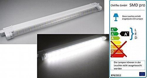 LED Unterbauleuchte Lichtleiste Küchenlampe, 40cm, 16 SMD LEDs, Licht weiß oder warmweiß (weiß)