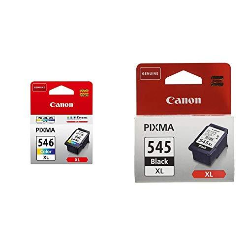 Canon CL-546XL Cartucho de tinta original Tricolor XL para Impresora de Inyeccion + PG-545XL Cartucho de tinta original Negro XL para Impresora de Inyeccion