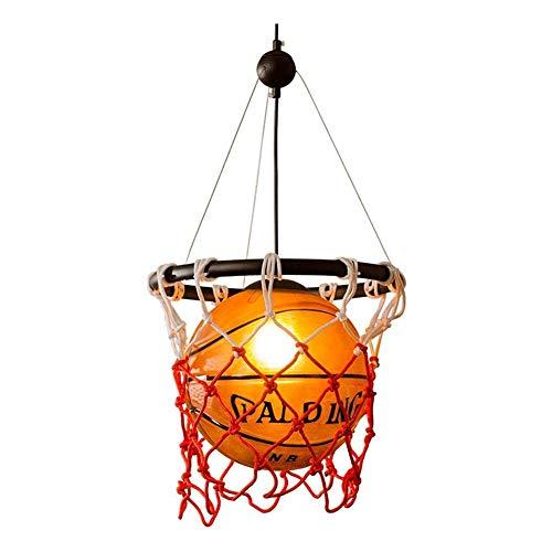 ZM-Shoes Retro Basketball Kronleuchter Kreative Persönlichkeit Restaurant Bar Dekoration Lampe Stadion Shop Sport-Thema Kunst Deckenleuchte Basketball Lichter,31 * 58cm