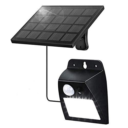 ENCOFT Lámpara de Pared 12 LED Solar Exterior con Sensor de Movimiento PIR, Luz Iluminación Aplique de Pared Solar Impermeable IP65 Retro, Lámpara Solar para Jardín Patio Balcón, Negro