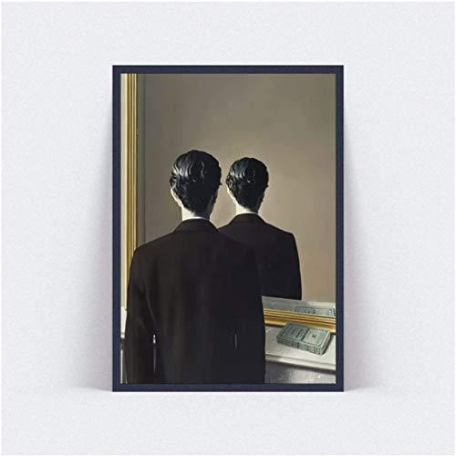 Refosian Rene Magritte Poster und Drucke Wandbilder für Wohnzimmer Berühmte Kunstdruck Poster -20X30 Zoll ohne Rahmen