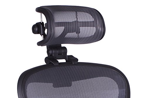 The Original Headrest for The Herman Miller Aeron Chair H3 Carbon | Colors and Mesh Match...