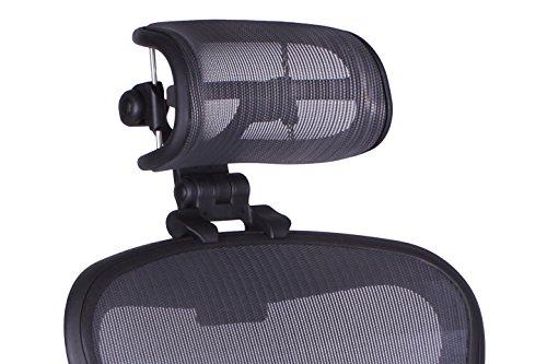 Engineered Now Die Originale Kopfstütze für den Herman Miller Aeron Stuhl H3 Graphit | Farben und Maschenbildungen passen zu dem umgestalteten Aeron Stuhl 2017 und neueren Modellen.