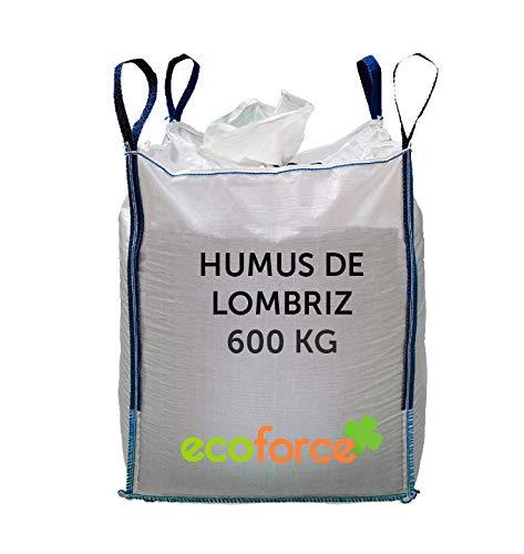 CULTIVERS Humus de Lombriz ecológico 600 kg. Abono para Plantas Apto para Todo Tipo de Plantas. Regenerador de la vida en el suelo.Precio Directo de fábrica