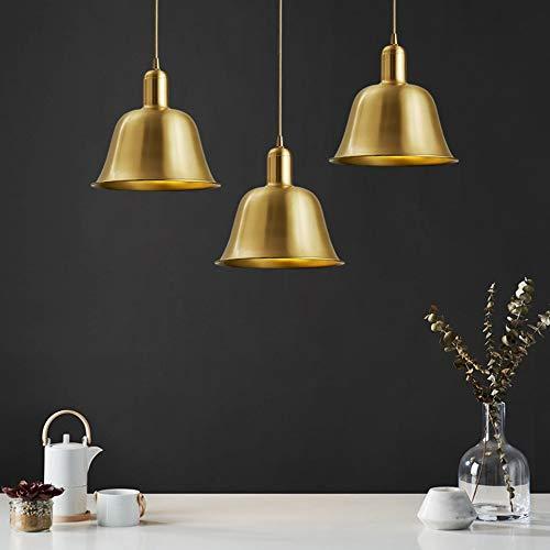 ZXJUAN Europese plafondlamp Nordic brede koperen bel messing kroonluchter decoratie winkel café restaurant retro kledingwinkel nacht verlichting 22 *  22 cm