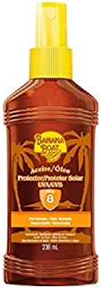 Banana Boat Tanning Oil With Carrot & Banana Extracts Spf 8 Sunscreen / 236 Ml