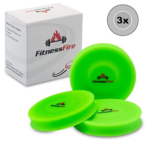3er Set Mini Frisbee - Die kleine Frisbeescheibe fliegt über 60 Meter weit - Die neue Trendsportart - Alternative zum gewöhnlichen Frisbeesport (Neongrün)